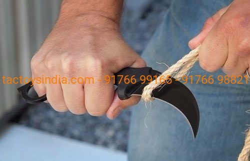 Falcon Tactical Karambit Black Survival Knife Outdoor Tiger Claw/Tooth