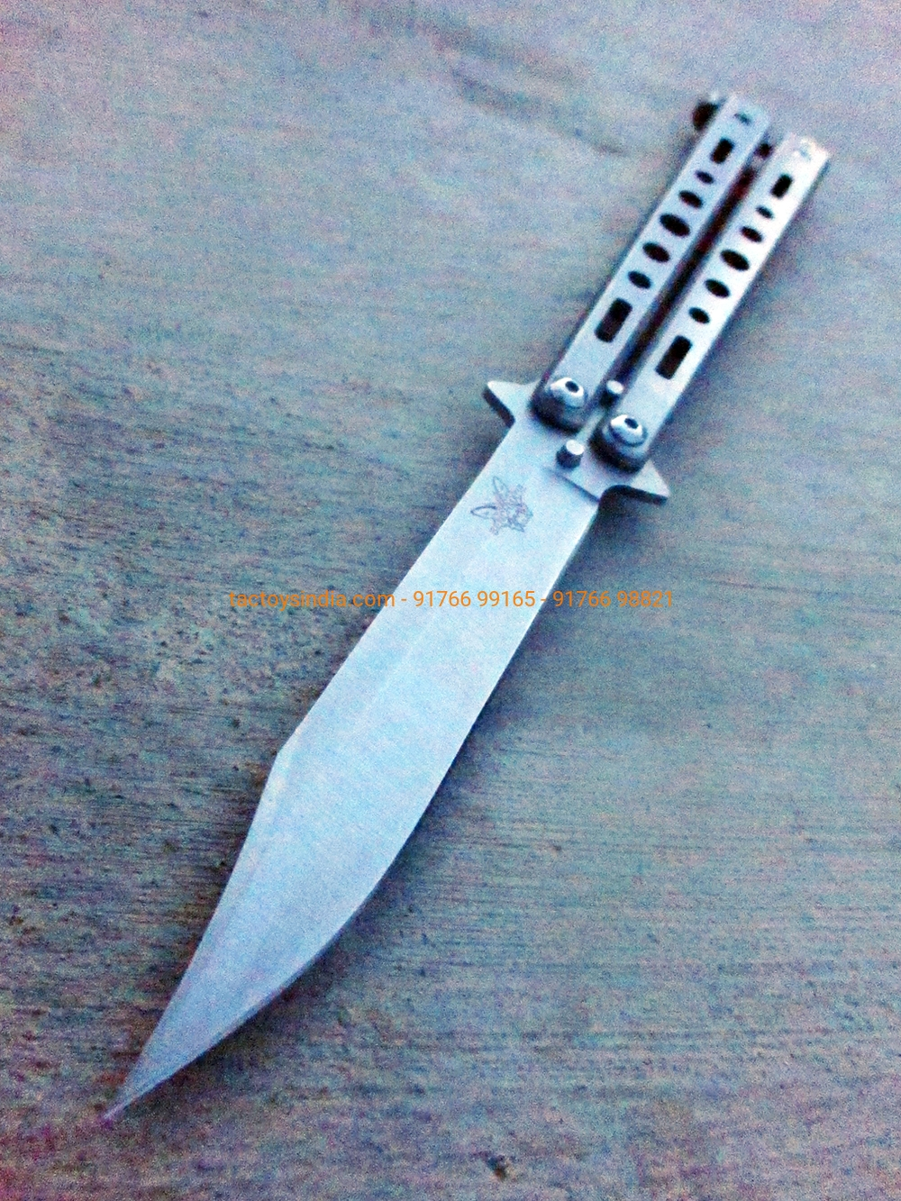Techno Benchmade Butterfly Knife Silver Tactoys India