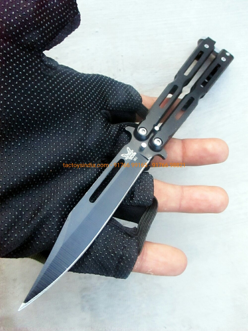 Benchmade Balisong 961 Black Razor Sharp Butterfly knife Flipper's Edition  Tactoys India