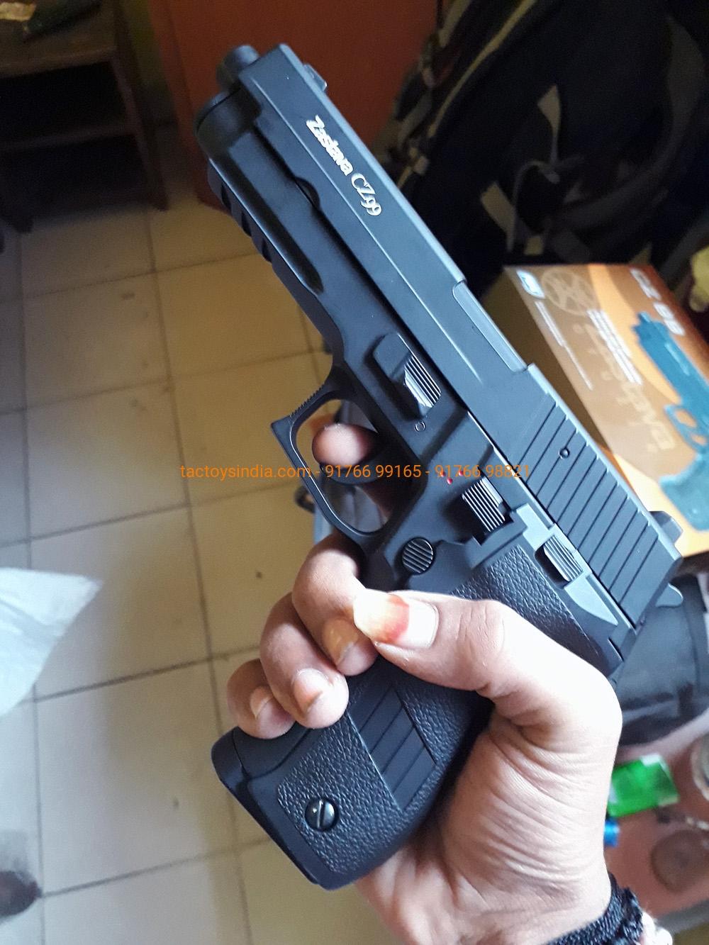 ASG Zastava CZ 99 Automatic Electric Pistol Airsoft Sports Games Replica  Airgun Firing Arms tactoys india