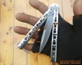Benchmade Model 62 Balisong Butterfly Knife Weehawk Plain Blade Stainless Steel Satin Finish Handles
