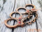 Antique Hand Cuffs and Revonver Gun Colour Thick Metal knuckleduster-- knuckles knucks knucklering knuck knucksale knucksdaily knuckporn tactical everydaycarry everyday_tactical selfdefense edcsale gearsale pocketdump metal brassknuckles skull