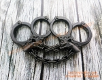 Antique Hand Cuffs and Revonver Black Colour Thick Metal knuckleduster Safety Punch Tactical Self-defence EDC Gear