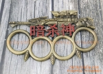Sniper Rifle Chinese Text Knucks Copper Colour Latest Design Fist Knuckle Duster Fighter