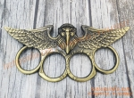 Copper Hawk with Big Open Wings Knuckle Duster Large Finger Rings Vintage Themed punch India