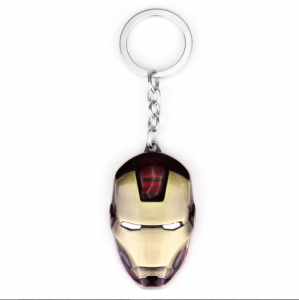 The Avengers Anime Movie Iron Man helmet keychain Alloy mask pendant keyring Key Chain Ring Fob for fans souvenirs