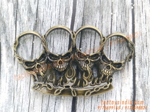 Skulls On Fire Unique Robust Fighting Knuckles Best Safety Gear Every day Carry Tactical Protection Stuff