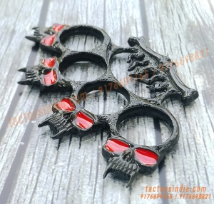 Black Vampire Sharp Devil Toothed Fist Knuckle Duster Sturdy Close Combat Melee Weapon India