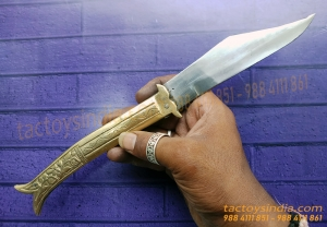 Rampuri Medium Collectible Vintage Antique Indian Knife Classic Churi Leverlock Switchblade Handmade