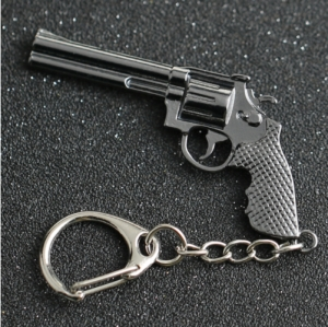 Keychain Revolver Magnum Ruger Bisley Pistol Gun Weapon Counter Strike Cross Fire Keyring Key Chain Ring