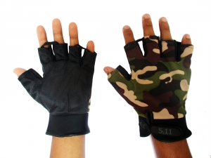 5.11 Tactical Half-Hand 2 Layers Camouflage Gloves