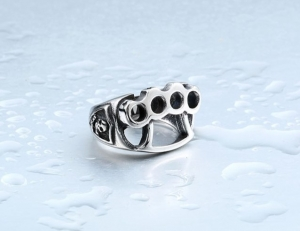 High Quanlity Men's repair tool Ring, 316L Stainless Steel cool fist skull Rings fashion Jewelry knuckle knucks punch