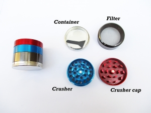 New Metal Smoke Grinder Aluminium Magnetic Round Herbal Herb Crusher Tobacco Grinding Smoke Cigar Tool