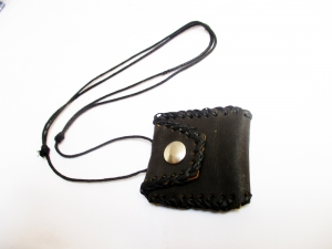 Punk leather messenger pouch shape vintage party accessories necklace jewelry gun gothic wheel men women girls boys pendant necklace for love jewelry
