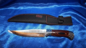 FOX model A61 beautiful engraved knife with concave grinded edge