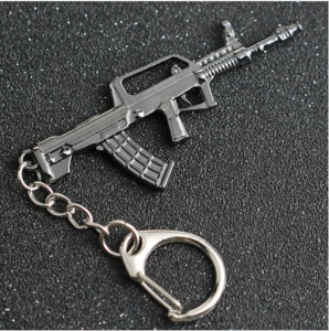 CS GO CSGO CF Keychain FAMAS 95 Automatic Rifle Gun Weapon Counter Strike Cross Fire Alloy Metal Keyring Jewelry