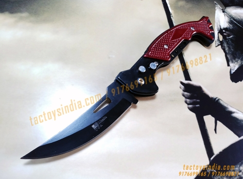 tactoysindia.com F881 Double Safety Automatic Folding Knife Button Operated Blade