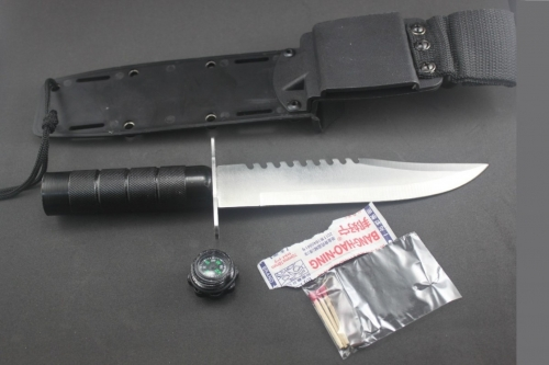Hollow Handle Efficient Outdoor Hunting Survival Knife