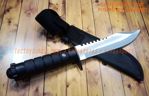 The White Slayer Serrated Bowie Knife / Fixed Blade / tactoysindia.com / 9176698821