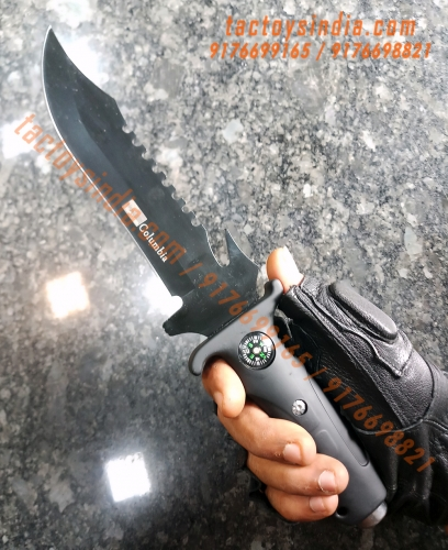 The Duke Serrated ABS Handle Tactical Marine Knife / tactoysindia.com / 9176698821